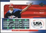 2004 Upper Deck USA Baseball 25th Anniversary Signatures Black Ink #SEAY Bobby Seay Autograph /360
