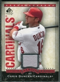 2008 Upper Deck SP Legendary Cuts Destination Stardom Memorabilia #CD Chris Duncan