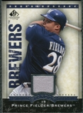 2008 Upper Deck SP Legendary Cuts Destination Stardom Memorabilia #PF Prince Fielder