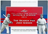 2012 Leaf Sports Icons Cut Signature Edition Baseball Hobby Box