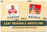 2012 Leaf Originals Wrestling Hobby Box