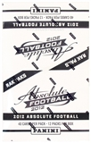 2012 Panini Absolute Football Rack Pack Box (12 Packs)
