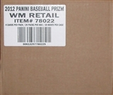 2012 Panini Prizm Baseball Retail 20-Box Case