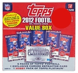 2012 Topps Football Value Box (5 Topps Packs, 1 Platinum Hobby Pack, 1 Luck/RGIII Chrome Refractor)