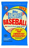 2012 Topps Archives Baseball Hobby Pack