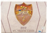 2012 Topps Supreme Football Hobby Box - WILSON & LUCK ROOKIES!