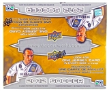 2012 Upper Deck Soccer Retail 36-Pack Box (1 Memorabilia Card Per Box)!
