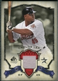 2008 Upper Deck SP Legendary Cuts Destined for History Memorabilia #CL Carlos Lee