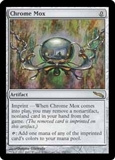 Magic the Gathering Mirrodin Single Chrome Mox - HEAVY PLAY (HP)
