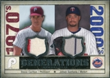 2008 Upper Deck SP Legendary Cuts Generations Dual Memorabilia #CS Steve Carlton Johan Santana
