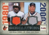 2008 Upper Deck SP Legendary Cuts Generations Dual Memorabilia #EC Eddie Murray Chipper Jones