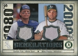 2008 Upper Deck SP Legendary Cuts Generations Dual Memorabilia #FP Carlton Fisk Mike Piazza