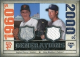 2008 Upper Deck SP Legendary Cuts Generations Dual Memorabilia #GG Gaylord Perry Greg Maddux