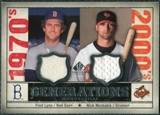 2008 Upper Deck SP Legendary Cuts Generations Dual Memorabilia #LM Fred Lynn Nick Markakis
