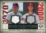 2008 Upper Deck SP Legendary Cuts Generations Dual Memorabilia #SC Steve Carlton Cole Hamels