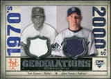 2008 Upper Deck SP Legendary Cuts Generations Dual Memorabilia #SP Tom Seaver Jake Peavy