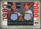 2008 Upper Deck SP Legendary Cuts Generations Dual Memorabilia #SZ Mike Schmidt Ryan Zimmerman
