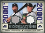 2008 Upper Deck SP Legendary Cuts Generations Dual Memorabilia #TM Todd Helton Matt Holliday