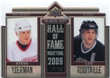 2010/11 Upper Deck Clear Cut Hall of Fame #CCHYR Steve Yzerman Luc Robitaille /25