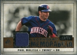 2008 Upper Deck SP Legendary Cuts Legendary Memorabilia Copper Parallel #PM2 Paul Molitor /75