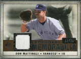2008 Upper Deck SP Legendary Cuts Legendary Memorabilia Copper #DM Don Mattingly /75