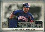 2008 Upper Deck SP Legendary Cuts Legendary Memorabilia Taupe Parallel #PM2 Paul Molitor /10