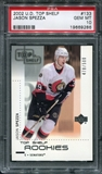 2002/03 Upper Deck Top Shelf #133 Jason Spezza /499 RC PSA 10 Gem Mint