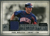 2008 Upper Deck SP Legendary Cuts Legendary Memorabilia Gray Parallel #PM2 Paul Molitor /15