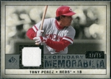 2008 Upper Deck SP Legendary Cuts Legendary Memorabilia Gray Parallel #TP Tony Perez /15