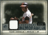 2008 Upper Deck SP Legendary Cuts Legendary Memorabilia Gray Parallel #FR Frank Robinson /15