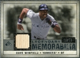2008 Upper Deck SP Legendary Cuts Legendary Memorabilia Gray #DW Dave Winfield /15