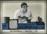 2008 Upper Deck SP Legendary Cuts Legendary Memorabilia Dark Blue #LB Lou Boudreau /15