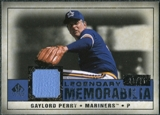 2008 Upper Deck SP Legendary Cuts Legendary Memorabilia Dark Blue Parallel #GP Gaylord Perry /25