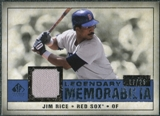 2008 Upper Deck SP Legendary Cuts Legendary Memorabilia Dark Blue #RI Jim Rice /25