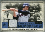 2008 Upper Deck SP Legendary Cuts Legendary Memorabilia Dark Blue Parallel #CY Carl Yastrzemski /25