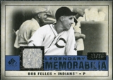 2008 Upper Deck SP Legendary Cuts Legendary Memorabilia Dark Blue #BF Bob Feller /25