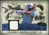 2008 Upper Deck SP Legendary Cuts Legendary Memorabilia Dark Blue #TR Tim Raines /25