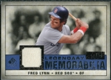 2008 Upper Deck SP Legendary Cuts Legendary Memorabilia Dark Blue #FL Fred Lynn /25