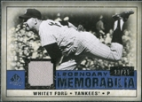2008 Upper Deck SP Legendary Cuts Legendary Memorabilia Dark Blue Parallel #WF Whitey Ford /25