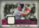 2008 Upper Deck SP Legendary Cuts Legendary Memorabilia Red Parallel #FL Fred Lynn /35