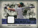2008 Upper Deck SP Legendary Cuts Legendary Memorabilia Violet Parallel #DP2 Dave Parker /50