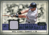2008 Upper Deck SP Legendary Cuts Legendary Memorabilia Violet Parallel #WC Will Clark /50