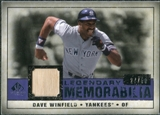 2008 Upper Deck SP Legendary Cuts Legendary Memorabilia Violet Parallel #DW Dave Winfield /50