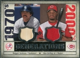 2008 Upper Deck SP Legendary Cuts Generations Dual Memorabilia #JG Reggie Jackson Ken Griffey Jr.