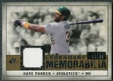 2008 Upper Deck SP Legendary Cuts Legendary Memorabilia #DP2 Dave Parker /99
