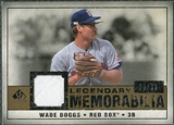 2008 Upper Deck SP Legendary Cuts Legendary Memorabilia #WB Wade Boggs /99