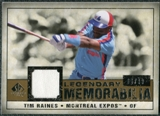 2008 Upper Deck SP Legendary Cuts Legendary Memorabilia #TR Tim Raines /99
