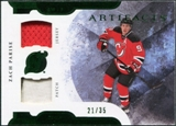 2011/12 Upper Deck Artifacts Horizontal Jerseys Patches Emerald #9 Zach Parise /35