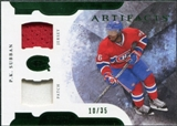 2011/12 Upper Deck Artifacts Horizontal Jerseys Patches Emerald #76 P.K. Subban /35