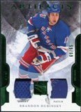 2011/12 Upper Deck Artifacts Jerseys Patch Emerald #62 Brandon Dubinsky 60/65